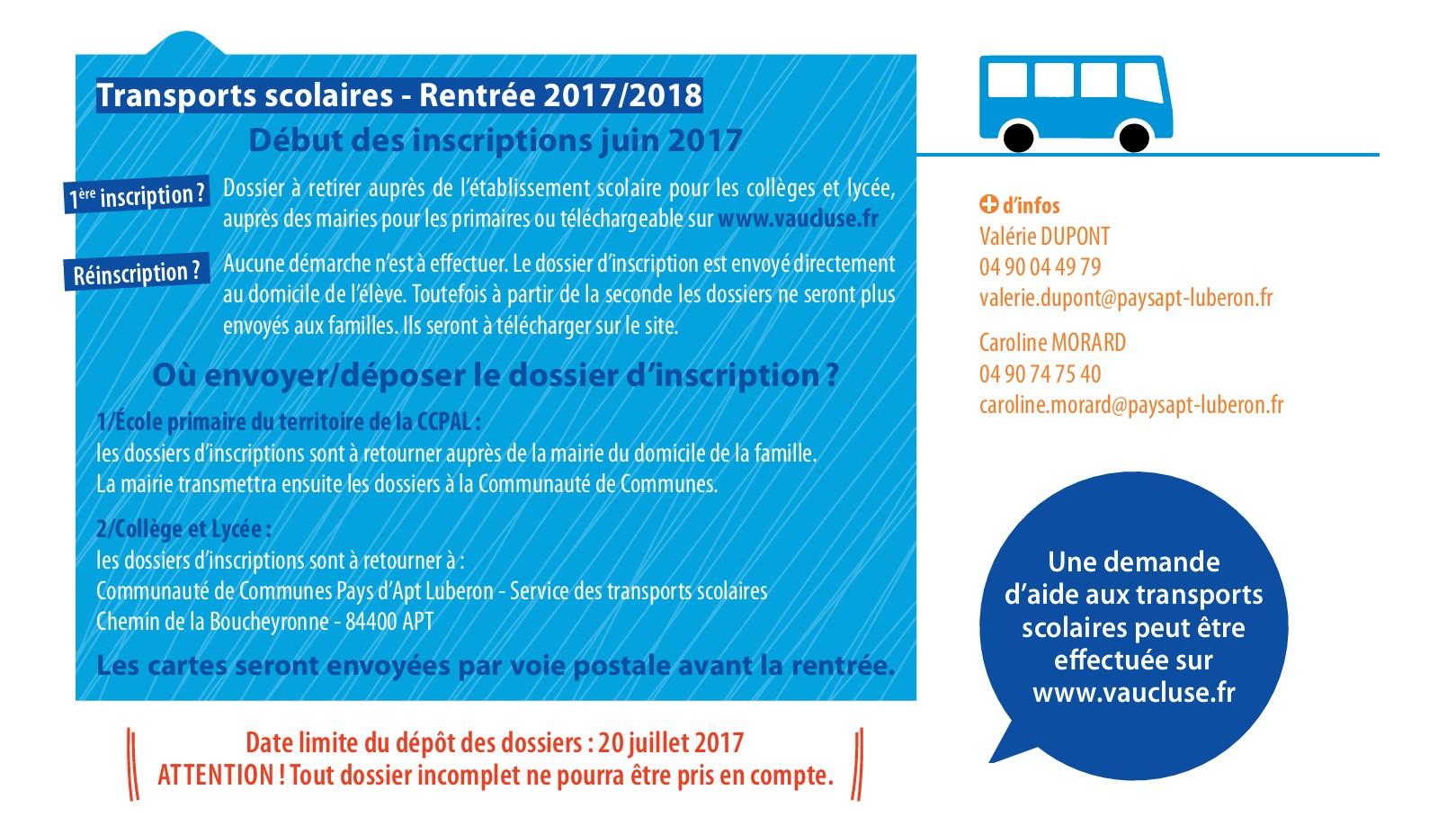 Transport sco - 2017 - 2018 - CCPAL