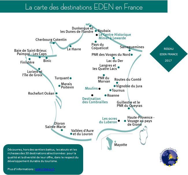 Carte destintations Eden 2017