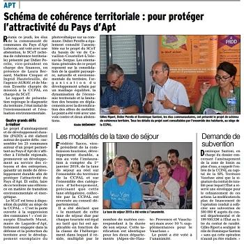 SCoT - CC 28 06 18 - Vaucluse matin - vignette