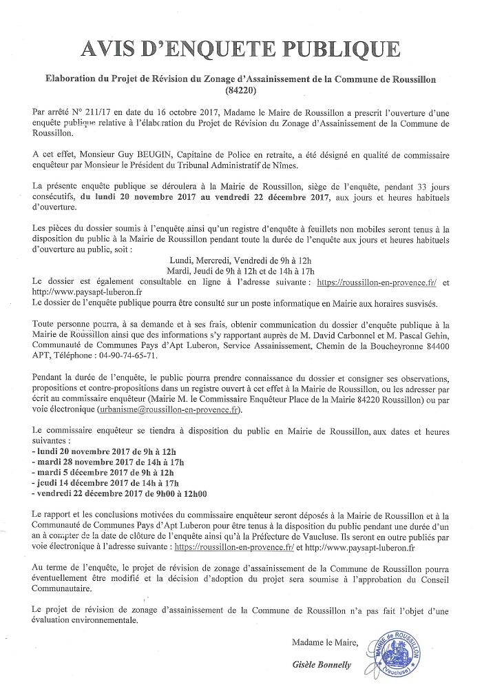 Elaboration Projet de Révision du Zonage d'Assainissement de Roussillon - BD