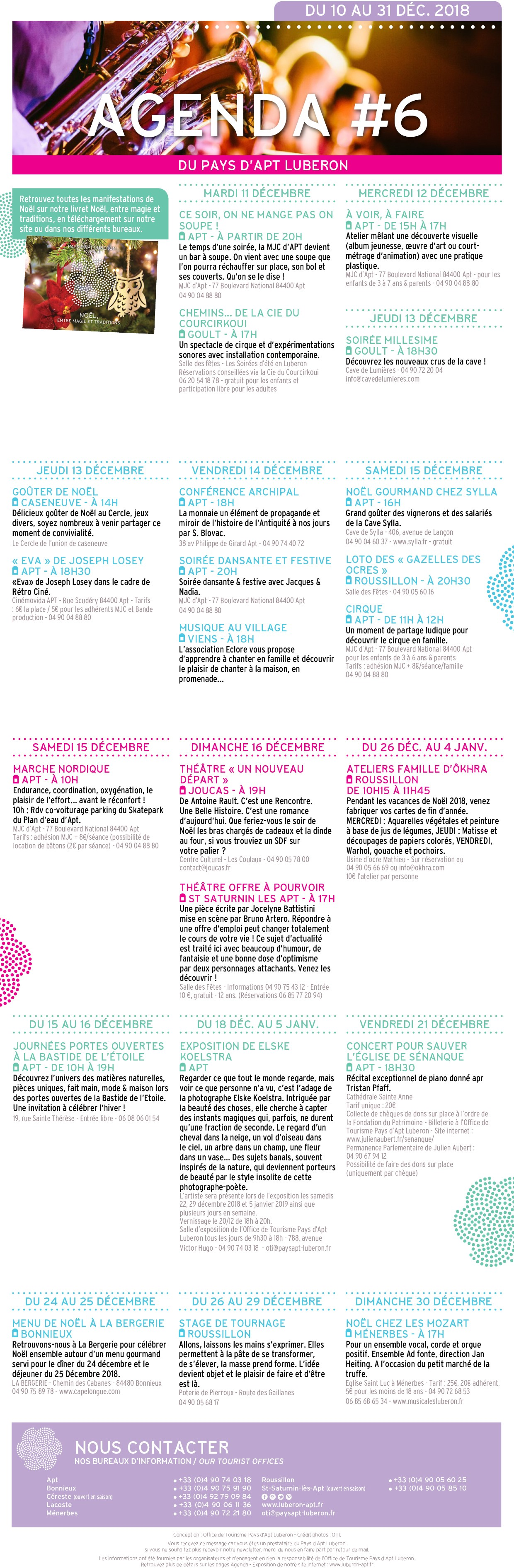 10 au 31 déc. 18 - agenda culturel - n°6
