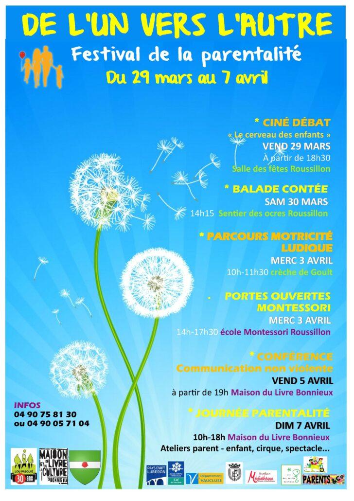 Affiche festival de l'un vers l'Autre 2019